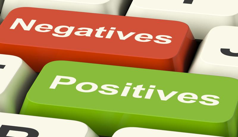 व्यवसायाचे सकारात्मक व नकारात्मक पैलू